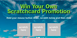 promotional scratch cards